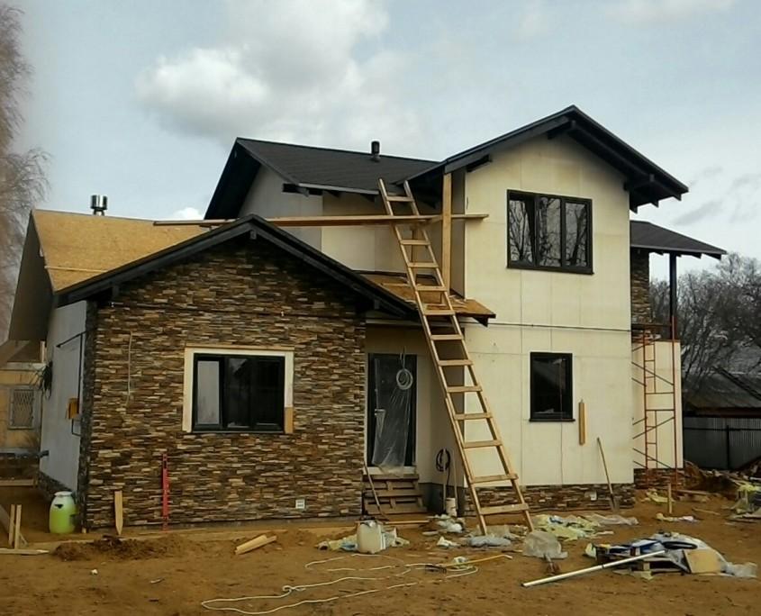 Строительство каркасного двухэтажного дома